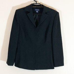 💐Ann Taylor Sz 12 Black Zip Front Blazer